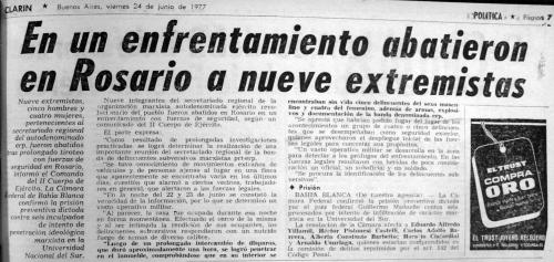 Clarin 24 de junio 1977