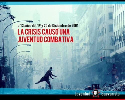 La crisis causó una juventud combativa. 19 y 20 diciembre 2001